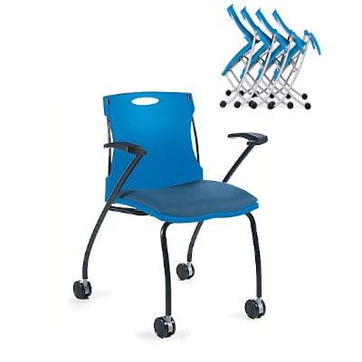 plastic chair with wheels